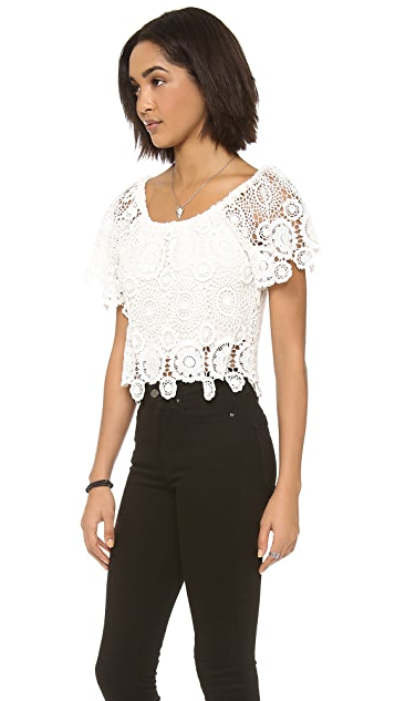 Nightcap x Carisa Rene Carmen Crochet Top