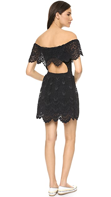 Nightcap x Carisa Rene Riviera Lace Fit & Flare Dress