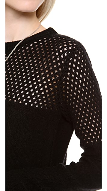 Nightcap x Carisa Rene Open Knit Crew Neck Sweater