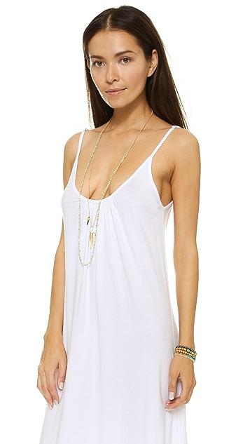Nightcap x Carisa Rene Lace Hem Maxi Dress