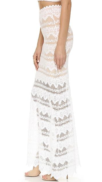 Nightcap x Carisa Rene Sierra Lace Maxi Skirt
