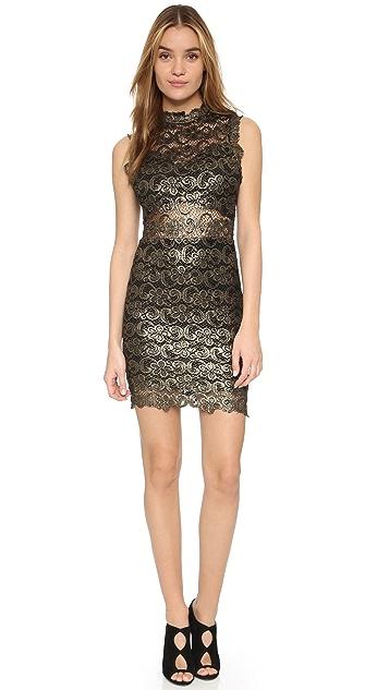 Nightcap x Carisa Rene Metallic Lace Mini Dress