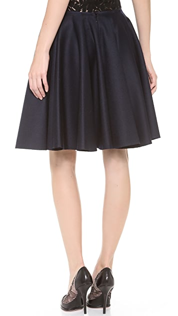 Nina Ricci Wool Full Skirt