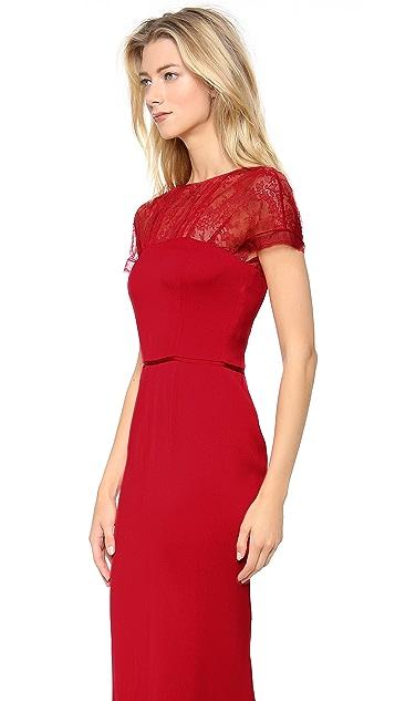 Nina Ricci Lace Cap Sleeve Dress