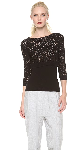 Nina Ricci Lace Knit Top
