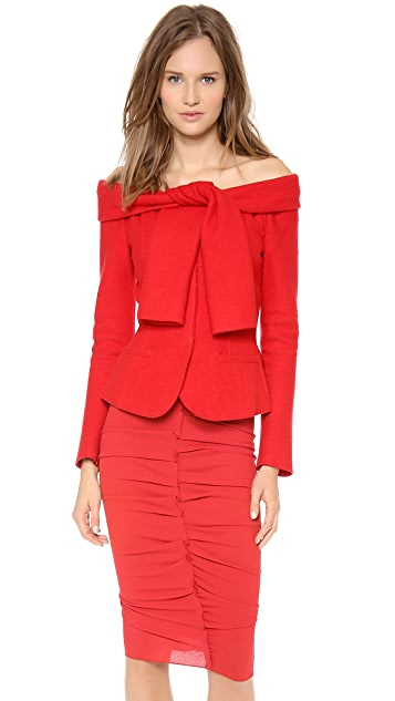 Nina Ricci Tie Shoulder Wool Jacket