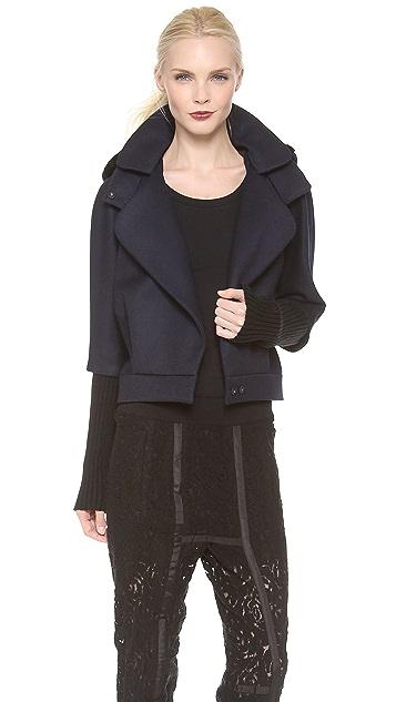 Nina Ricci Cropped 3/4 Sleeve Jacket with Fur