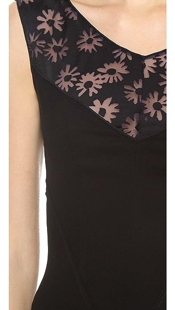 Nina Ricci Burnout Floral Dress
