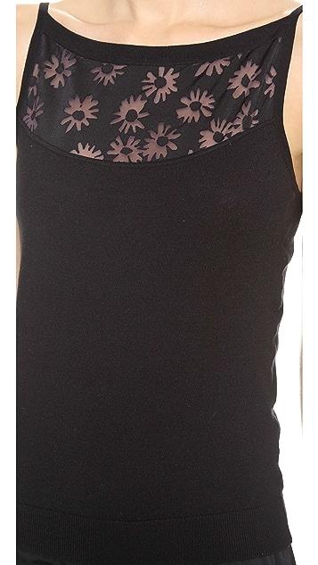 Nina Ricci Burnout Floral Tank
