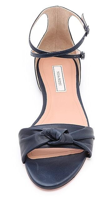 Nina Ricci Flat Knot Sandals