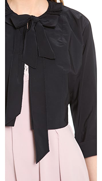 Nina Ricci Cropped Bow Jacket