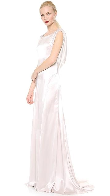Nina Ricci Satin Cowl Neck Gown