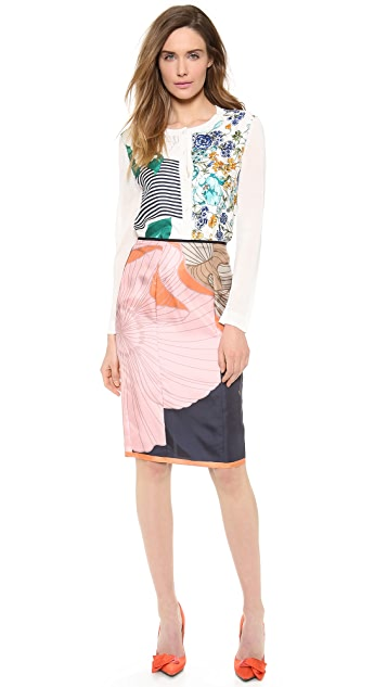Nina Ricci Silk Printed Cardigan