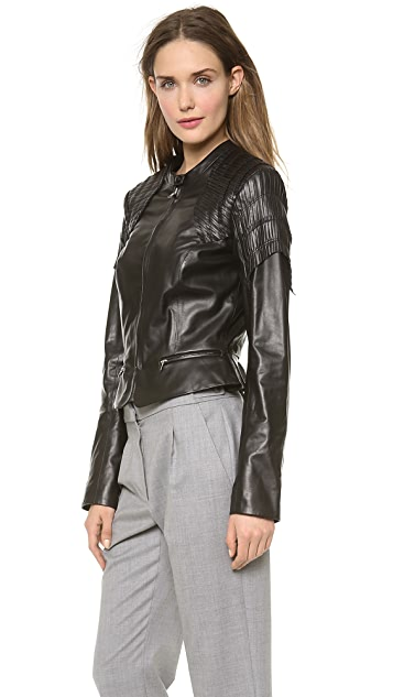 Nina Ricci Black Leather Jacket