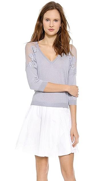 Nina Ricci Lace Trim Pullover