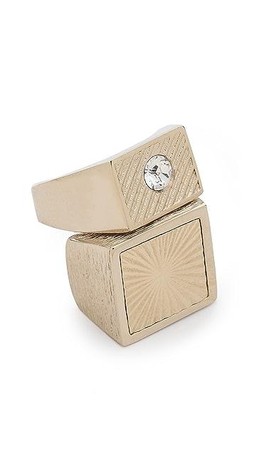 Nina Ricci Double Stone Ring