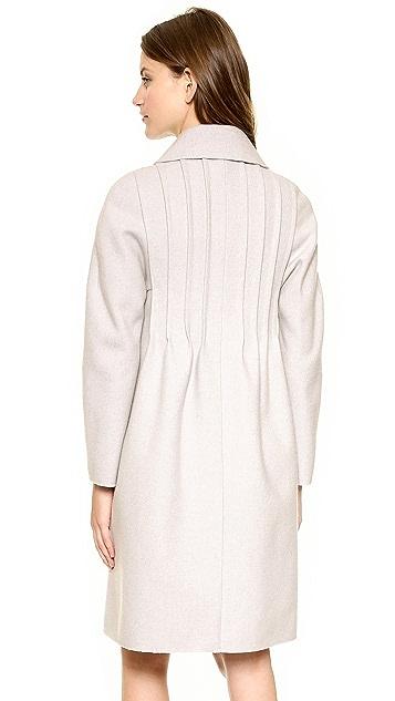 Nina Ricci Pintuck Wool Coat