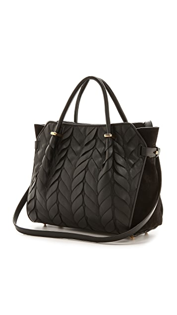 Nina Ricci Leather Petal Handbag