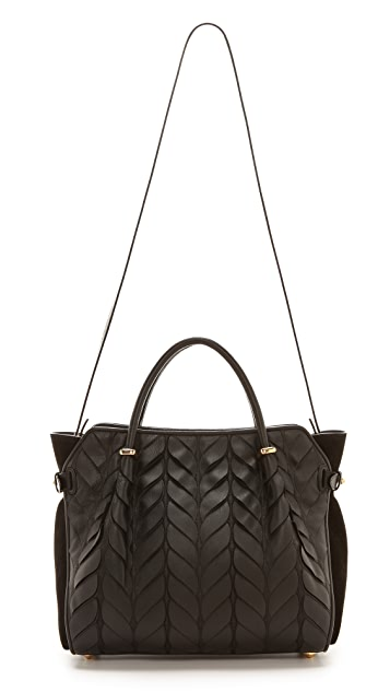 Nina Ricci Leather Petal Handbag