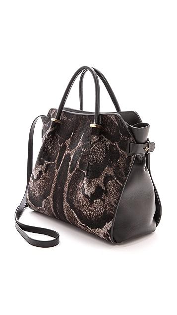 Nina Ricci Haircalf & Leather Handbag