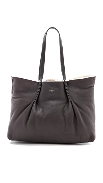 Nina Ricci Leather Shearling Tote