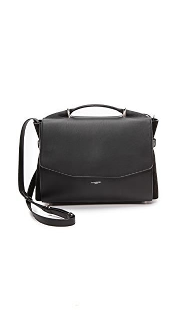 Nina Ricci Leather & Suede Satchel