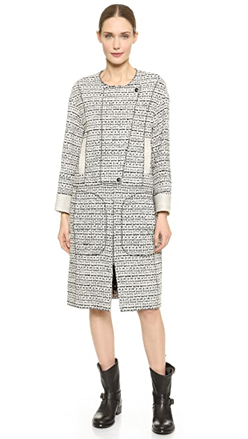 Nina Ricci Long Tweed Coat