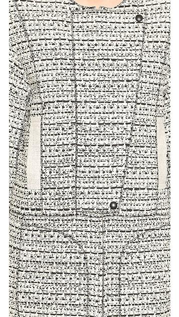 Nina Ricci Long Tweed Coat