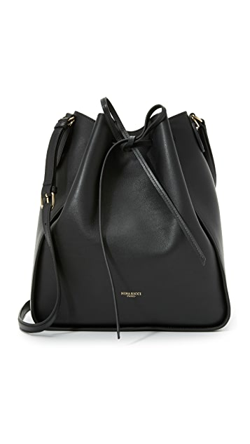 08a61cf884 Nina Ricci Leather Bucket Bag ...