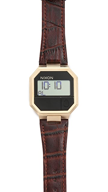 Nixon The Re Run Leather Watch