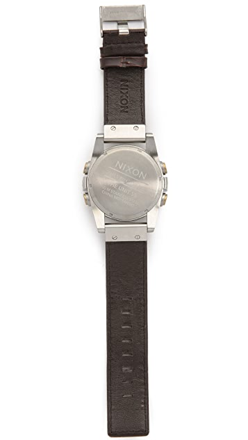 Nixon The Unit SS Leather Watch