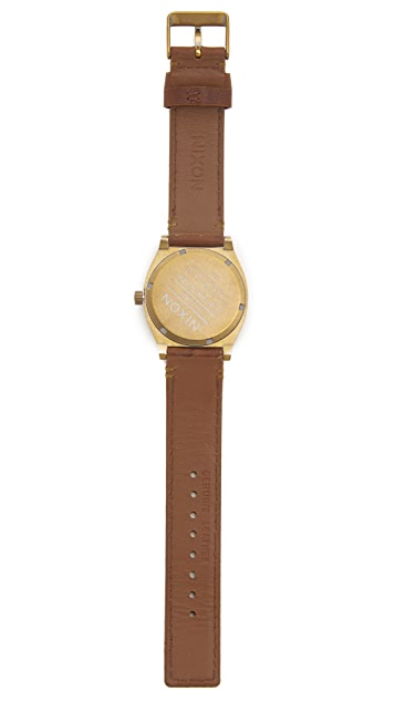 Nixon The Time Teller Leather Watch