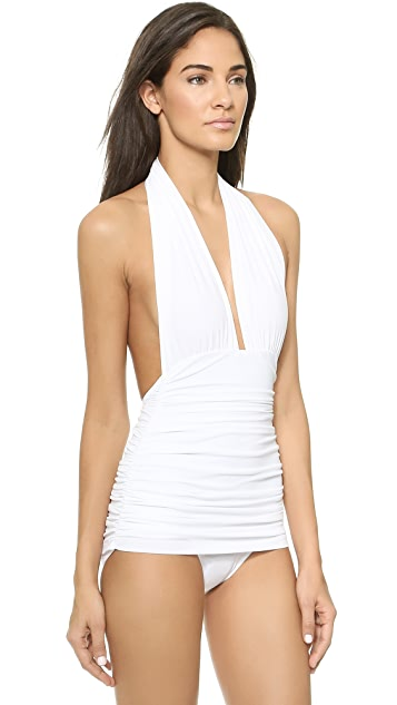 Norma Kamali Bill Halter One Piece