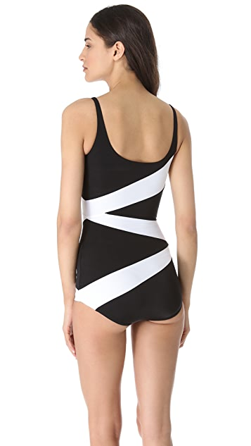 Norma Kamali Route 66 One Piece Swimsuit