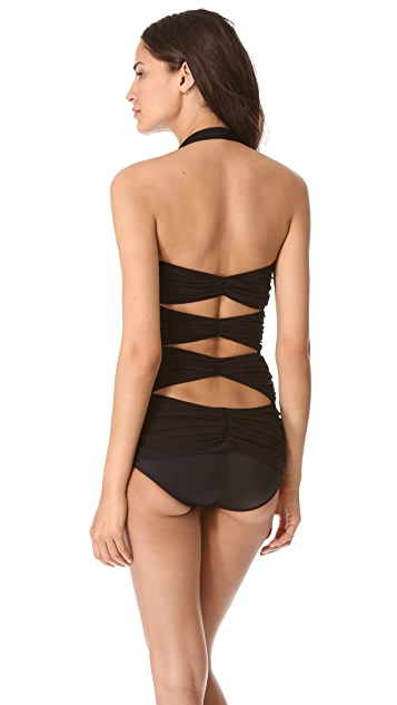 Norma Kamali Peek-A-Boo One Piece Swimsuit