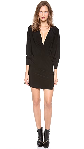 Norma Kamali Long Sleeve Daphne Dress