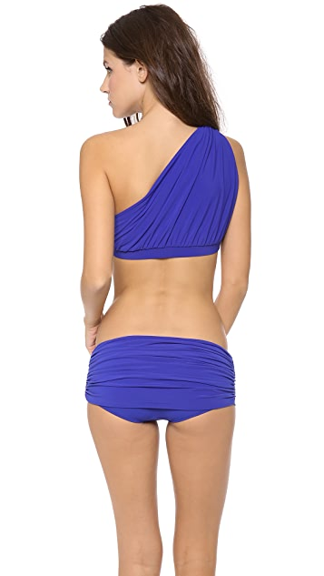 Norma Kamali One Shoulder Bikini Top