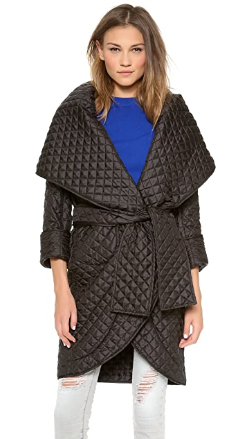 Norma Kamali Shawl Collar Coat