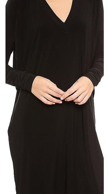 Norma Kamali Kamali Kulture Narrow Box V Neck Dress