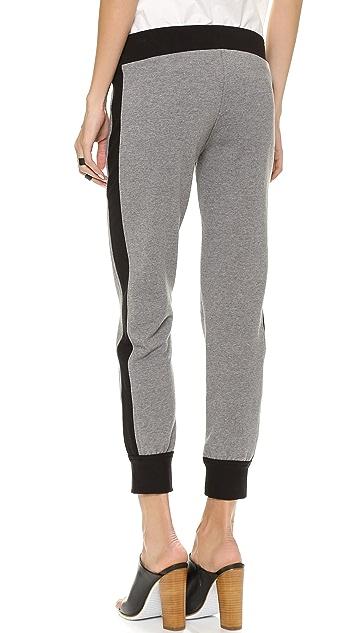 Norma Kamali Side Stripe Jogging Pants