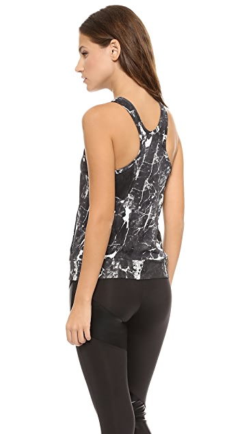 Norma Kamali Racer Tank with Pocket