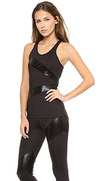 Norma Kamali Spliced Racer Back Tank