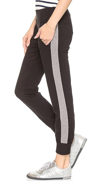 Norma Kamali Side Stripe Jog Pants