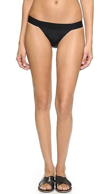 Norma Kamali Kamali Kulture Banded Bikini Bottoms