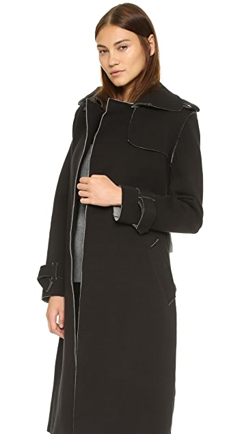 Norma Kamali Double Breasted Wrap Trench Coat Shopbop