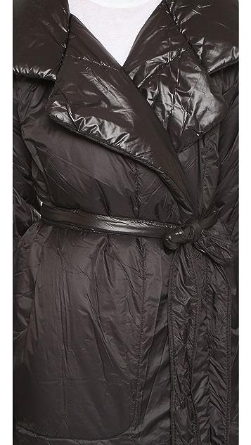 Norma Kamali Classic Long Reversible Coat