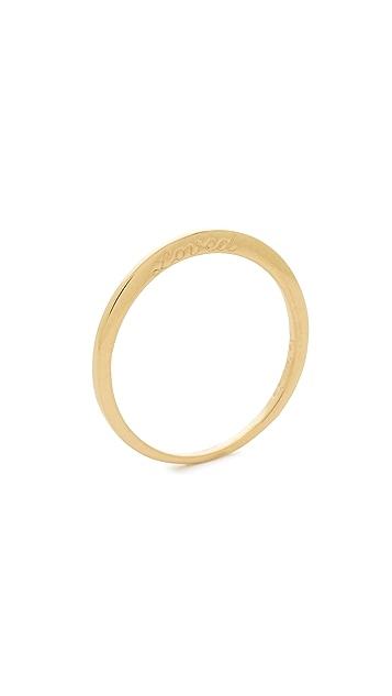 Nora Kogan 14k Gold Loved Ring with 2 Diamonds