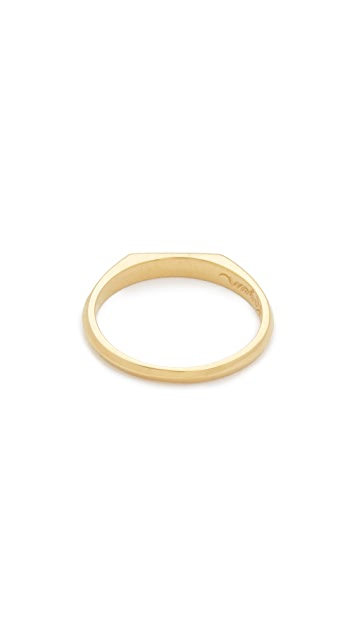 Nora Kogan 10k Gold Mama Signet Ring