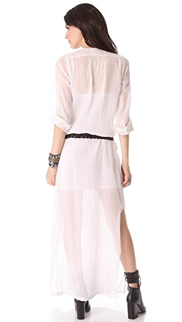 Nili Lotan Long Embroidered Beach Dress