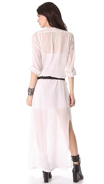 Nili Lotan Long Embroidered Beach Dress